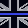 404375 a zt tbl 07 thin blue line union jack police handcuff key personalized personalisation personalised one side [2] 2326 p